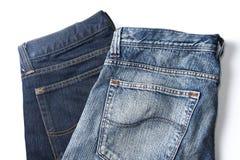 Twee jeans Stock Afbeeldingen