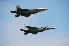 Twee jetfighters royalty-vrije stock foto's