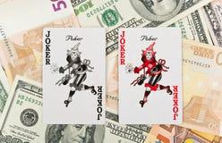 Twee jokers Royalty-vrije Stock Fotografie