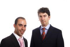 Twee jong bedrijfsmensenportret stock foto