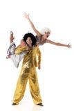 Twee jonge acrobaten. Stock Foto