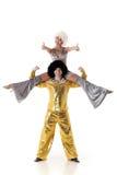 Twee jonge acrobaten. Stock Fotografie