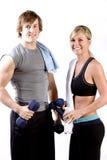 Twee jonge atletische mensen Royalty-vrije Stock Afbeelding
