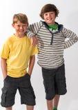 Twee Jonge Broers Stock Foto
