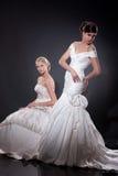 Twee Jonge Bruiden Stock Fotografie