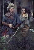 Twee jonge dames Royalty-vrije Stock Foto's