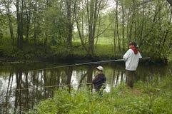 Twee jonge fishermans Stock Fotografie
