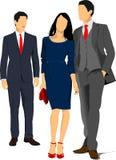 Twee jonge knappe mannen en jonge vrouw Royalty-vrije Stock Foto's