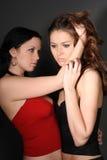 Twee jonge lesbische meisjesvriend Stock Fotografie