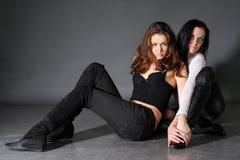 Twee jonge lesbische meisjesvriend Royalty-vrije Stock Foto's