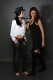 Twee jonge lesbische meisjesvriend Royalty-vrije Stock Fotografie