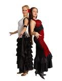 Twee jonge meisjes - dansers stock fotografie