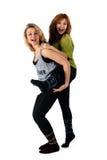 Twee jonge meisjes die pret hebben Royalty-vrije Stock Foto