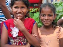 Twee jonge meisjes in Goa Royalty-vrije Stock Afbeeldingen