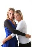 Twee jonge meisjesvrienden Stock Afbeeldingen