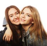 Twee jonge meisjesvrienden die pret hebben Royalty-vrije Stock Foto
