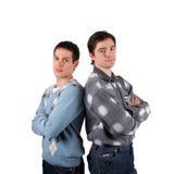 Twee jonge mensen Stock Afbeeldingen