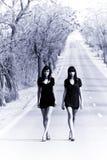Twee jonge modellen royalty-vrije stock fotografie