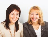 Twee jonge onderneemsters Royalty-vrije Stock Foto's