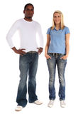 Twee jonge personen van verschillende huidkleur Royalty-vrije Stock Foto's