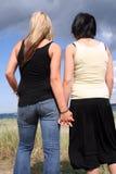 Twee jonge vrouwen Stock Foto