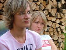 Twee jonge vrouwen Stock Fotografie