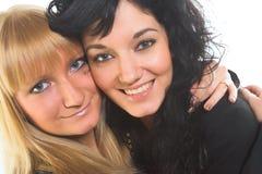 Twee jonge vrouwen stock afbeeldingen