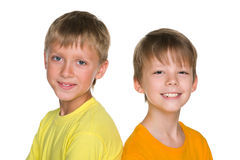 Twee jongens Royalty-vrije Stock Afbeeldingen