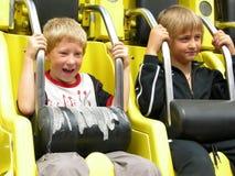 Twee jongens is redy om te gaan royalty-vrije stock foto's