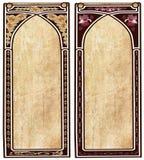 Twee Jugendstilframes Stock Afbeelding