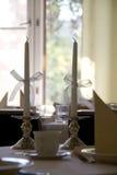 Twee kaarsen Stock Afbeeldingen
