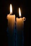 Twee kaarsen royalty-vrije stock foto