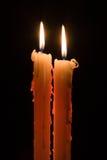 Twee kaarsen Royalty-vrije Stock Foto's