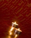 Twee Kaarsen van Kerstmis royalty-vrije stock foto