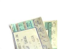 Twee kaartjes Royalty-vrije Stock Foto's