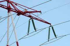 Twee kabels met verlichting Royalty-vrije Stock Afbeeldingen