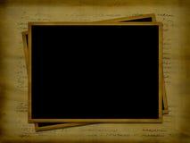 Twee kader voor foto's op de oude brief Stock Foto's