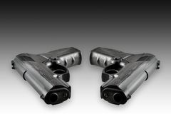 Twee kanonnen Stock Fotografie