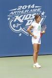 Twee keer Grote Slagkampioen en tennisbus Amelie Mauresmo tijdens US Open 2014 Royalty-vrije Stock Foto's