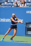 Twee keer Grote Slagkampioen Victoria Azarenka van Wit-Rusland tijdens tweede ronde gelijke bij US Open 2014 Royalty-vrije Stock Fotografie