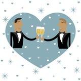 Twee kerels drinken samen Vector illustratie vector illustratie