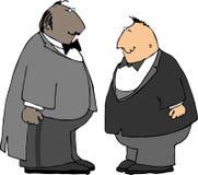 Twee kerels in smokingen Stock Foto's