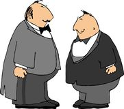 Twee kerels in smokingen Stock Afbeeldingen