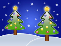 Twee Kerstbomen Stock Fotografie