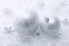 Twee Kerstmisballen Stock Fotografie