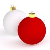 Twee Kerstmisballen stock illustratie