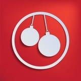 Twee Kerstmisballen voor uw ontwerp Stock Fotografie