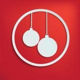 Twee Kerstmisballen voor Uw Ontwerp Royalty-vrije Stock Afbeelding