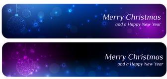Twee Kerstmisbanners Stock Foto