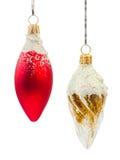 Twee Kerstmisdecoratie Royalty-vrije Stock Afbeelding